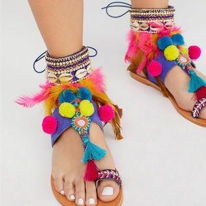 Free people Women's Milos Embellished Sandals